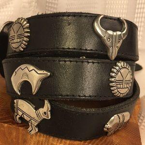 Handmade Accessories - Leather/metal western bison eagle sun antelope
